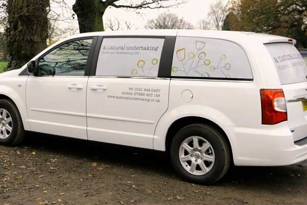 A Natural Undertaking funeral car