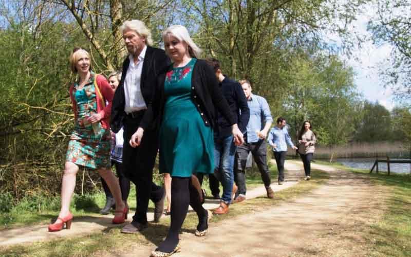 Walk round lake with Richard Branson