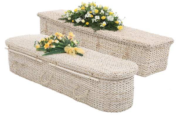 Banana leaf coffins