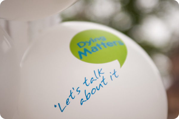 Dying Matters balloons