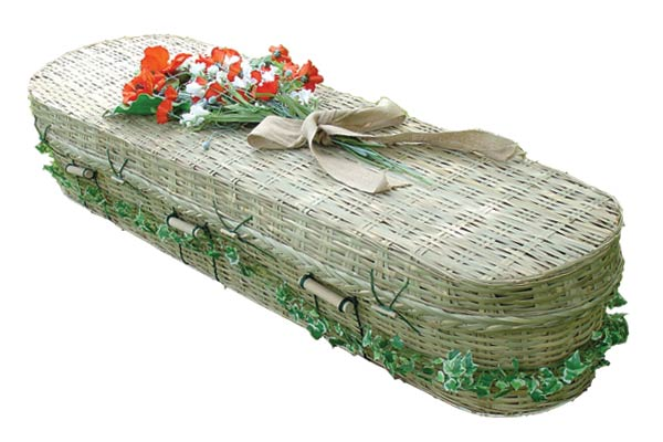 Bamboo oval shape coffin