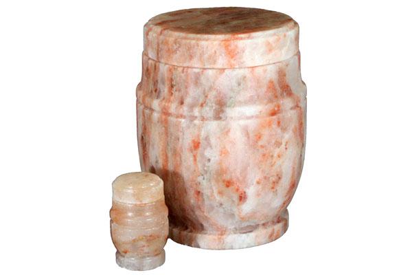 Himalayan rock salt urn
