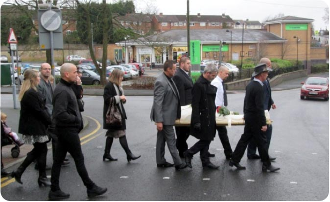 Shroud funeral procession