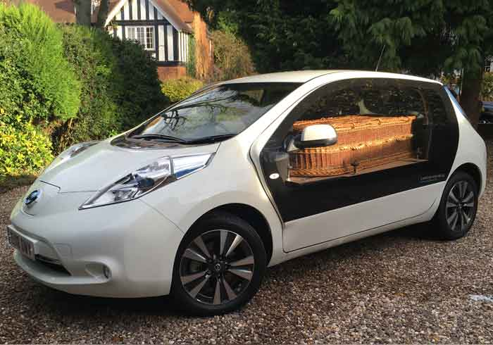 Electric Nissan Leaf Hearse